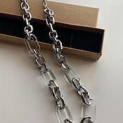 Украшения handmade. Livemaster - original item Wide semi-transparent chain Addict. Handmade.