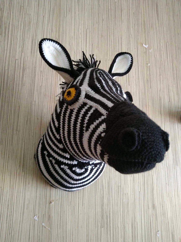Голова зебры, вязаная игрушка, Игрушки, Краснодар,  Фото №1