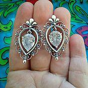 Украшения handmade. Livemaster - original item 79 Earrings silver with cubic Zirconia. Handmade.