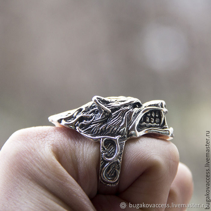 Ring of Wolf silver of 925, Rings, Moscow,  Фото №1