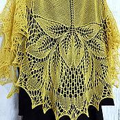 Аксессуары handmade. Livemaster - original item Shawl Knit Silk Gentiana, Shawl Knitting. Handmade.