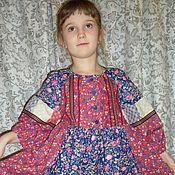"""Народные рубахи ручной работы. Ярмарка Мастеров - ручная работа Платье для девочки в русском стиле """"Заигрыш"""". Handmade."""