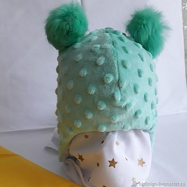 Clothing handmade. Livemaster - original item Plush hat Minky. Handmade.