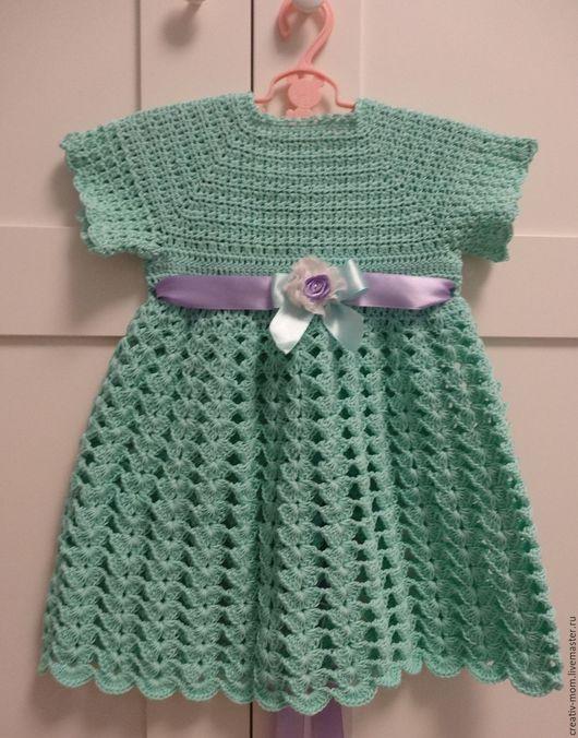 """Одежда для девочек, ручной работы. Ярмарка Мастеров - ручная работа. Купить Платье """" Мята и лаванда"""". Handmade. Комбинированный"""