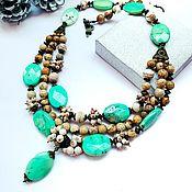 Украшения handmade. Livemaster - original item Necklace with chrysoprase, Jasper, onyx. Handmade.