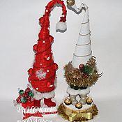 Подарки к праздникам ручной работы. Ярмарка Мастеров - ручная работа Елка Дед Мороз. Handmade.