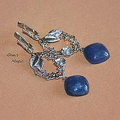 Украшения handmade. Livemaster - original item Earrings made of kyanite