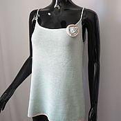 Одежда ручной работы. Ярмарка Мастеров - ручная работа Вязаный топ  из натурального шелка. Handmade.
