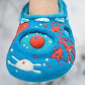 """Обувь ручной работы. Ярмарка Мастеров - ручная работа Башмачки """"Стерегущие снег..."""". Handmade."""