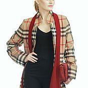 Одежда ручной работы. Ярмарка Мастеров - ручная работа Пальто из ткани burberry 46-48 размер. Handmade.