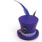 Куклы и игрушки ручной работы. Ярмарка Мастеров - ручная работа Безумный шляпник фиолетовая шляпа кукольная миниатюра. Handmade.