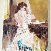 Картины и панно handmade. Livemaster - original item Oil painting After the ball. Handmade.