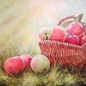"""Картины и панно ручной работы. Ярмарка Мастеров - ручная работа Картина """"Солнечные яблочки"""".. Handmade."""