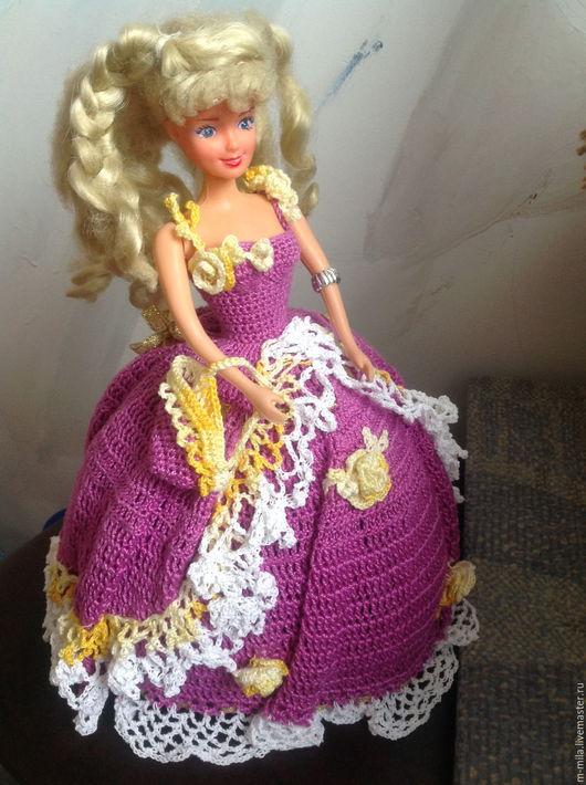 """Одежда для кукол ручной работы. Ярмарка Мастеров - ручная работа. Купить Бальное платье для кукол Барби """"Принцесса"""". Handmade. Фиолетовый"""