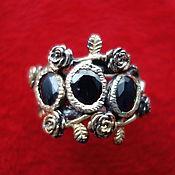 Украшения handmade. Livemaster - original item ISODORA-stylish silver ring of 19 p. with black sapphires. Handmade.