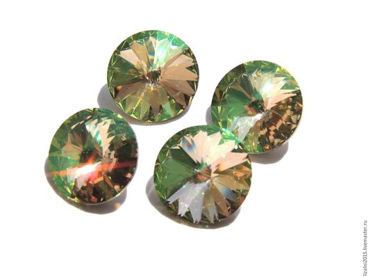 Для украшений ручной работы. Ярмарка Мастеров - ручная работа. Купить Риволи Сваровски 14мм Luminous Green. Handmade.