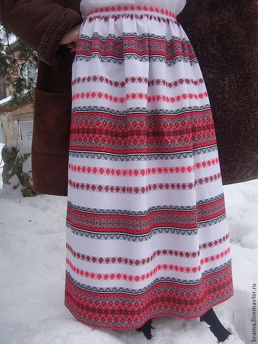 Этническая одежда ручной работы. Ярмарка Мастеров - ручная работа. Купить юбка купава. Handmade. В полоску, юбка летняя