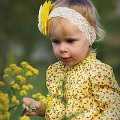 Работы для детей, ручной работы. Ярмарка Мастеров - ручная работа Повязка - ободок для девочки Моё солнышко. Handmade.