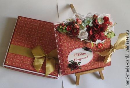 Открытки для женщин, ручной работы. Ярмарка Мастеров - ручная работа. Купить Подарочный набор ( коробочка + открытка). Handmade.