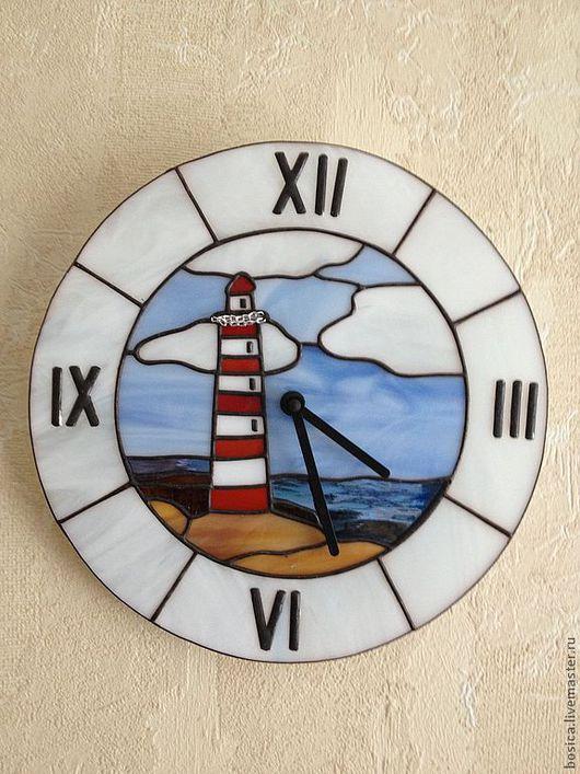 """Часы для дома ручной работы. Ярмарка Мастеров - ручная работа. Купить Часы """" Маяк"""", тиффани. Handmade. Маяк"""