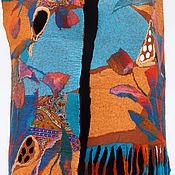 """Аксессуары ручной работы. Ярмарка Мастеров - ручная работа нуновойлочный палантин""""Восточные сказки 1"""". Handmade."""