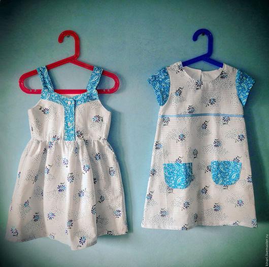 Одежда для девочек, ручной работы. Ярмарка Мастеров - ручная работа. Купить Платье и сарафан для девочки и сарафан для куклы BabyBorn. Handmade.