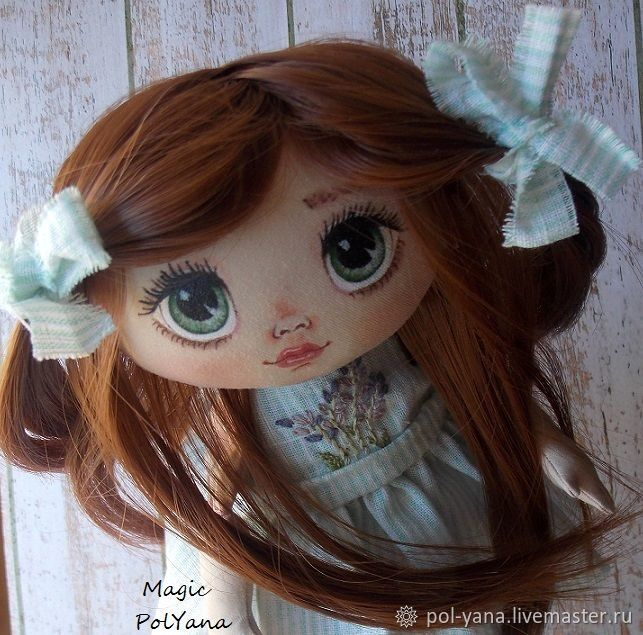 Textile cute doll, handmade author's doll, Ball-jointed doll, Ufa,  Фото №1