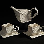 """Посуда ручной работы. Ярмарка Мастеров - ручная работа Сервиз """"В Стокгольме шесть часов"""". Handmade."""