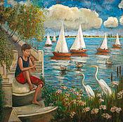 Картины и панно ручной работы. Ярмарка Мастеров - ручная работа Мальчик с флейтой. Handmade.
