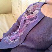 """Одежда ручной работы. Ярмарка Мастеров - ручная работа Жакет валяный """"Violet flame"""". Handmade."""