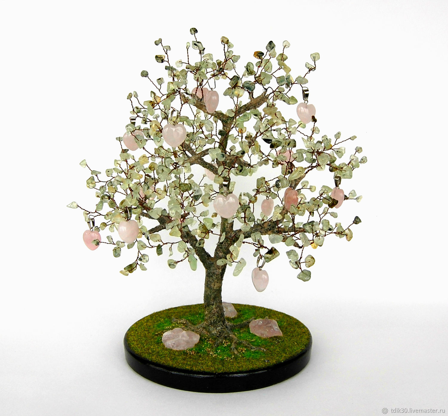 Tree of rose quartz and prenite 'With love to You...', Trees, Maikop,  Фото №1