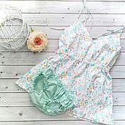 Пижамы ручной работы. Ярмарка Мастеров - ручная работа Пижамы: Пижама из сатина. Handmade.