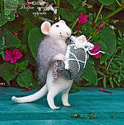 Куклы и игрушки ручной работы. Ярмарка Мастеров - ручная работа Мама мышка с мышоночком 2. Handmade.