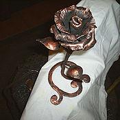 Для дома и интерьера ручной работы. Ярмарка Мастеров - ручная работа Роза кованная на  подставке.. Handmade.