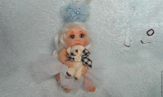 Миниатюра ручной работы. Ярмарка Мастеров - ручная работа. Купить ....Мася...... Handmade. Бежевый, кукольная миниатюра, коллекционная кукла, миниатюрный