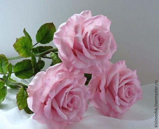 Цветы ручной работы. Ярмарка Мастеров - ручная работа. Купить Розы из полимерной глины. Букет Double pink.. Handmade. Розовый