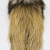 Материалы для творчества ручной работы. Ярмарка Мастеров - ручная работа Перья Coq de Leon Silver Rooster Saddle (51202011). Handmade.
