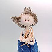 Куклы и игрушки ручной работы. Ярмарка Мастеров - ручная работа Текстильная интерьерная кукла ручной работы Морячка. Handmade.