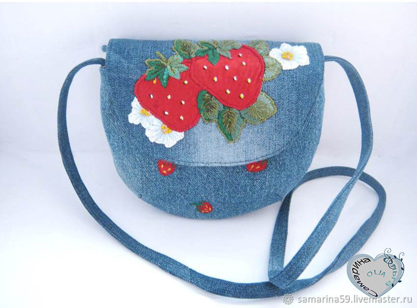 Baby S Accessories Handmade Livemaster Children Handbag Shoulder Bag Strawberry