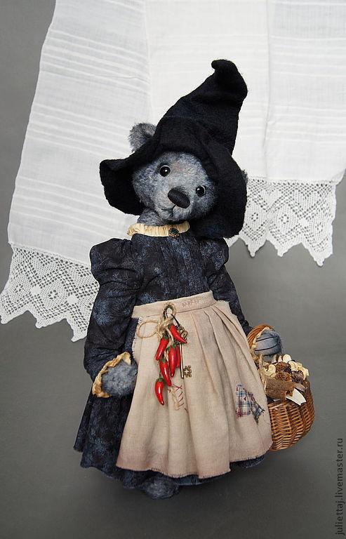 Мишки Тедди ручной работы. Ярмарка Мастеров - ручная работа. Купить Эльвира.. Handmade. Серый, ведьмочка, синтипух
