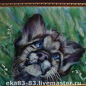 Картины и панно ручной работы. Ярмарка Мастеров - ручная работа Мечтательный тигренок. Handmade.