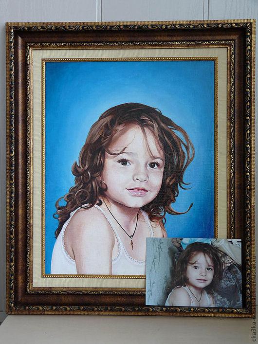 Портреты на заказ в подарок  40х50 - 30 тыс.руб. Картина представлена для примера. Ручная работа холст - масло. Моя любимая ДОЧКА.