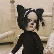 """Тедди Долл ручной работы. Ярмарка Мастеров - ручная работа Тедди Долл """"Черная кошка"""". Handmade."""