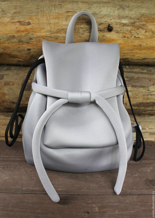 Рюкзаки ручной работы. Ярмарка Мастеров - ручная работа. Купить Рюкзак женский, серый неопрен.. Handmade. Рюкзак, рюкзак из ткани