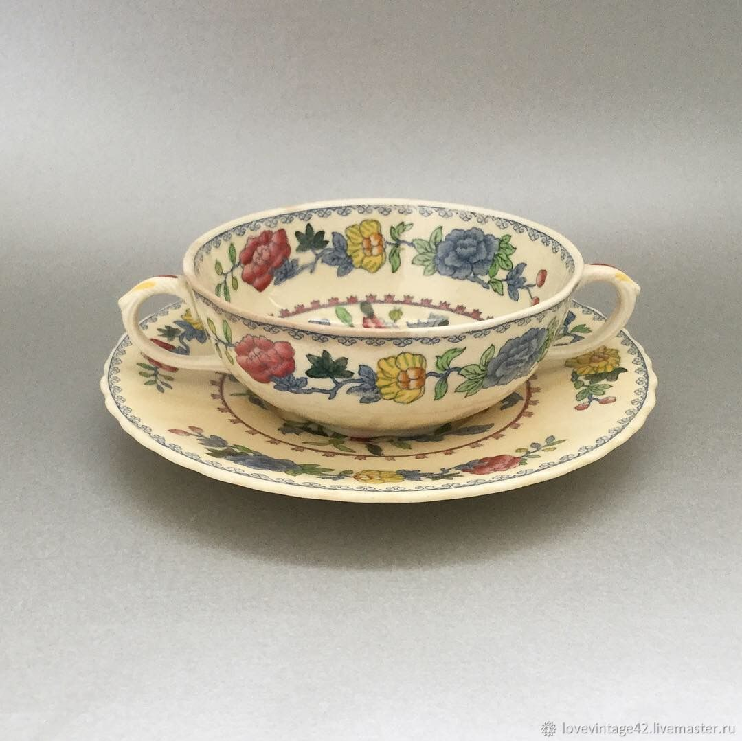 Винтаж: Бульоница, суповая пара от Masons Regency, Сервизы винтажные, Лондон,  Фото №1