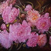 Картины и панно handmade. Livemaster - original item OIL PAINTING PEONIES,flowers Emperor. Handmade.