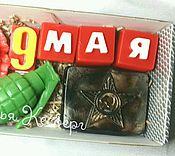 """Косметика ручной работы. Ярмарка Мастеров - ручная работа Набор мыла """" 9 Мая """". Handmade."""