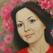 Картины и панно handmade. Livemaster - original item Painting portrait oil painting custom made photograph gift for an anniversary. Handmade.