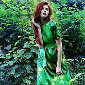 Одежда ручной работы. Ярмарка Мастеров - ручная работа Эхо леса     платье из купонной ткани. Handmade.