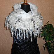 Аксессуары handmade. Livemaster - original item Scarf-collar with sweats felted sheep.. Handmade.